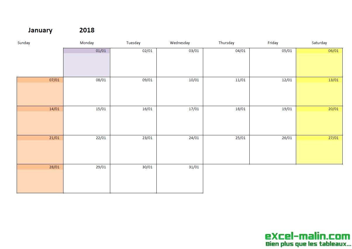 Calendar with Pictures Template Printable Monthly Calendar Template for Excel Excel