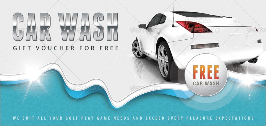 Car Wash Gift Certificate Template Car Wash Gift Voucher V12 by Rapidgraf Graphicriver
