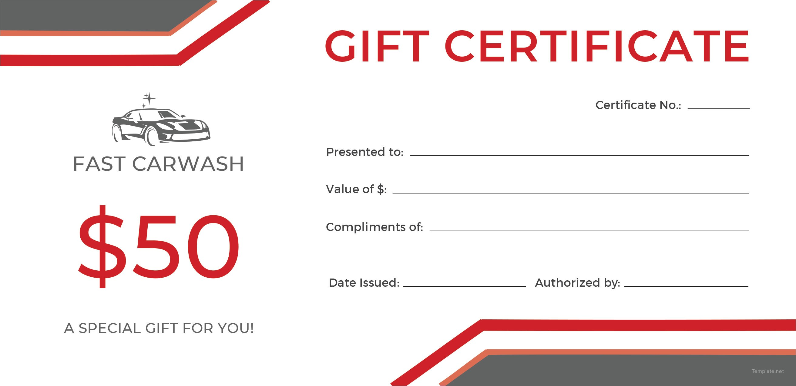 Car Wash Gift Certificate Template Free Carwash Gift Certificate Template In Adobe
