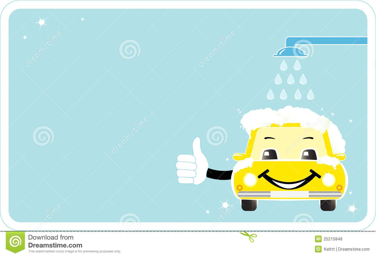 Car Wash Gift Certificate Template Visiting Card with Smiling Car Wash Stock Vector Image