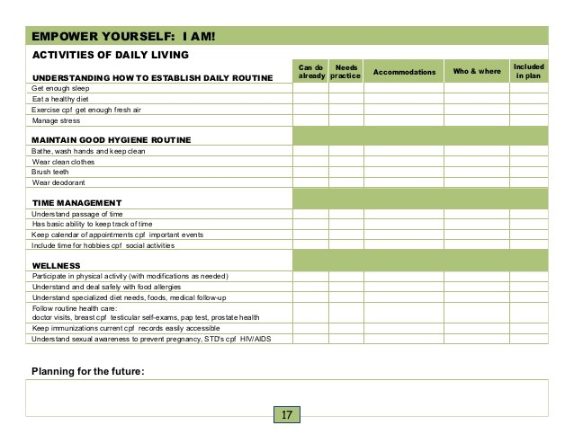 caregiver schedule template