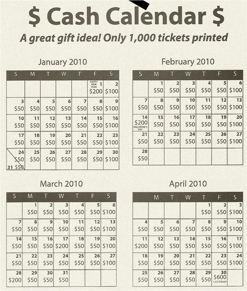 cash calendars