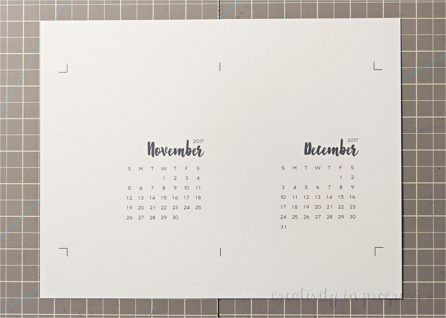 cd calendar 2017