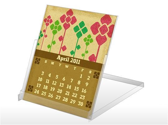 april 2011 cd case calendar template