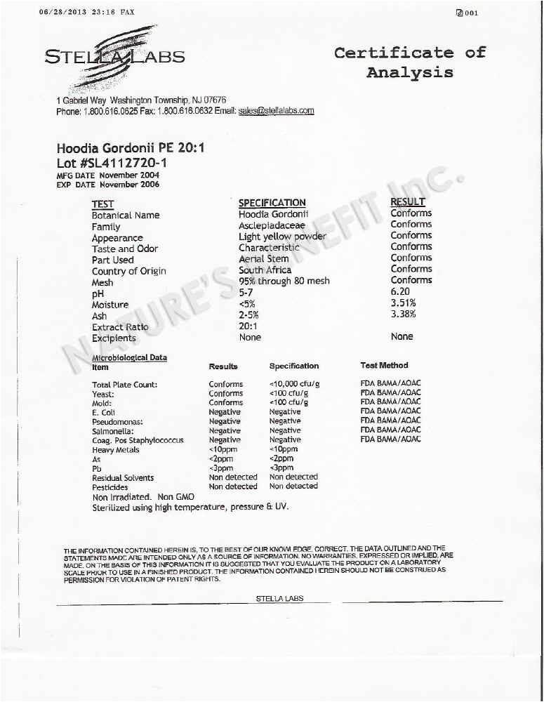 Certificate Of Analysis Fda Template Certificate Of Analysis Fda Food Food Ideas