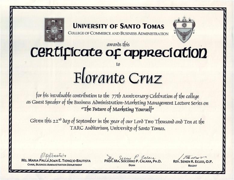 certificate of appreciation for guest speaker sample certificate of appreciation keynote speaker gallery certificate