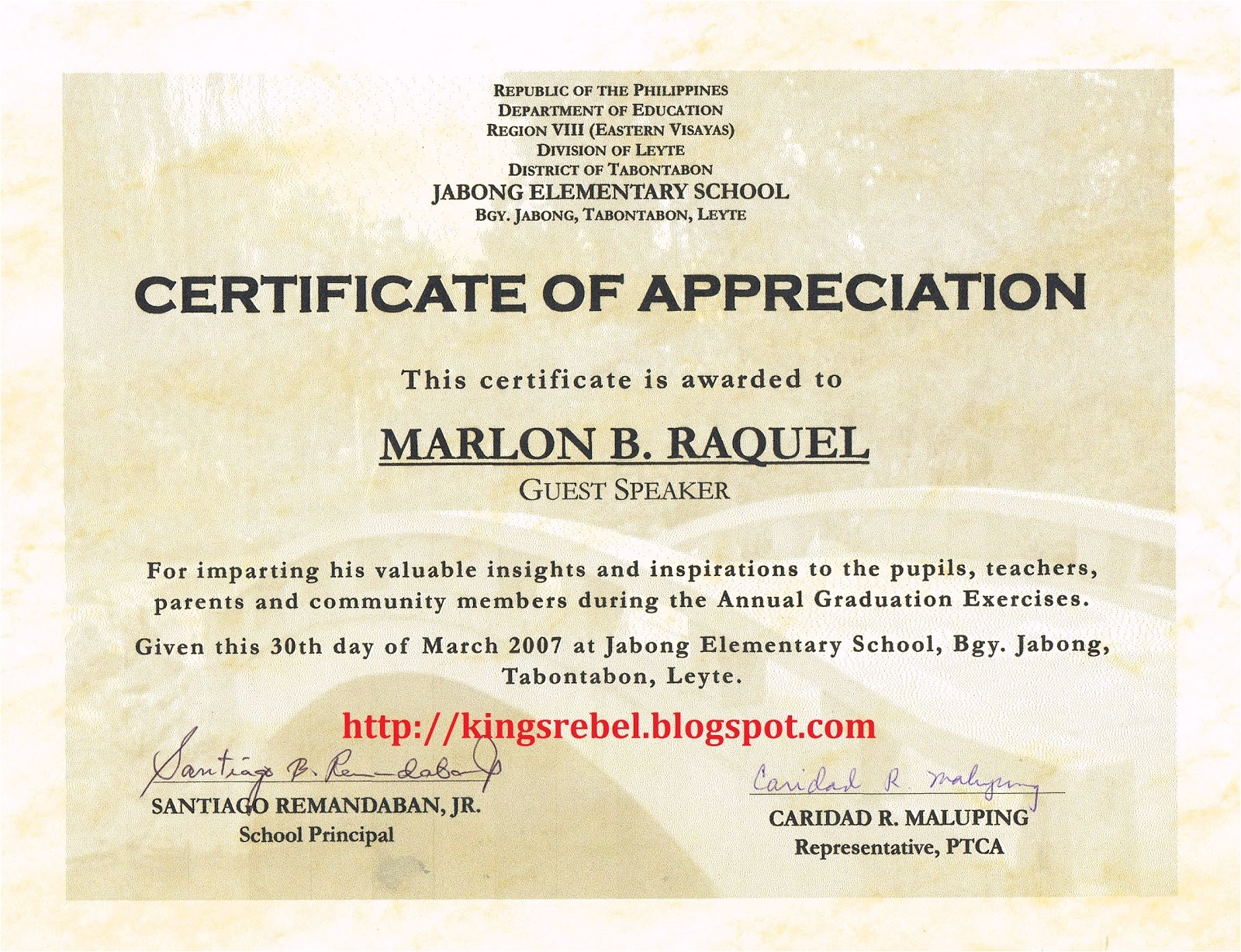 example of certificate of appreciation 17