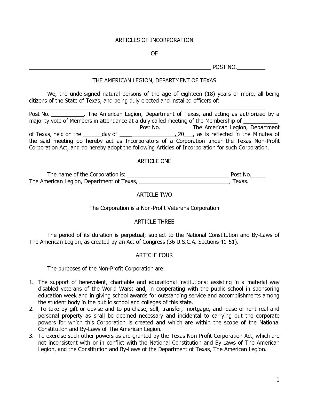 certificate of organization template