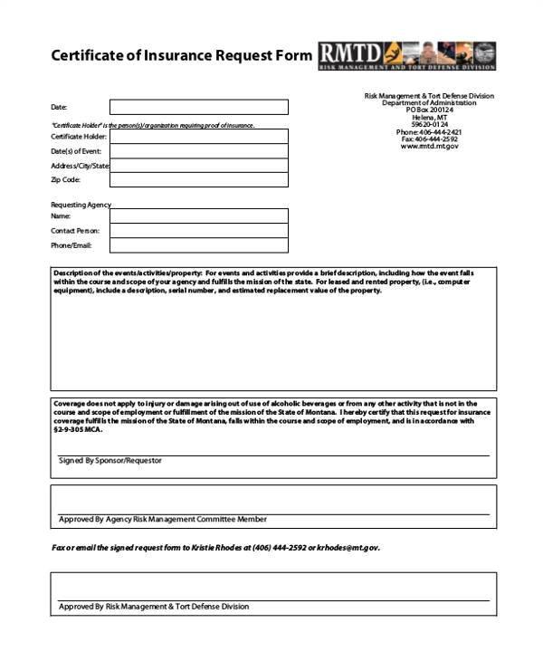 certificate form template