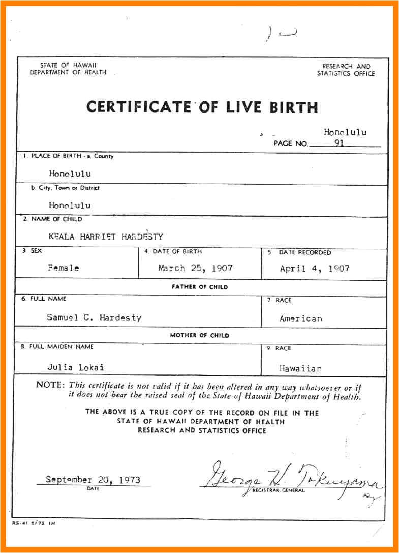 Certificate Of Live Birth Template Birth Certificate Template Template Trakore Document