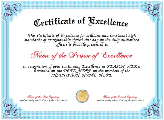 Certificate Of Partnership Template Certificate Of Excellence Templates Certificate Templates