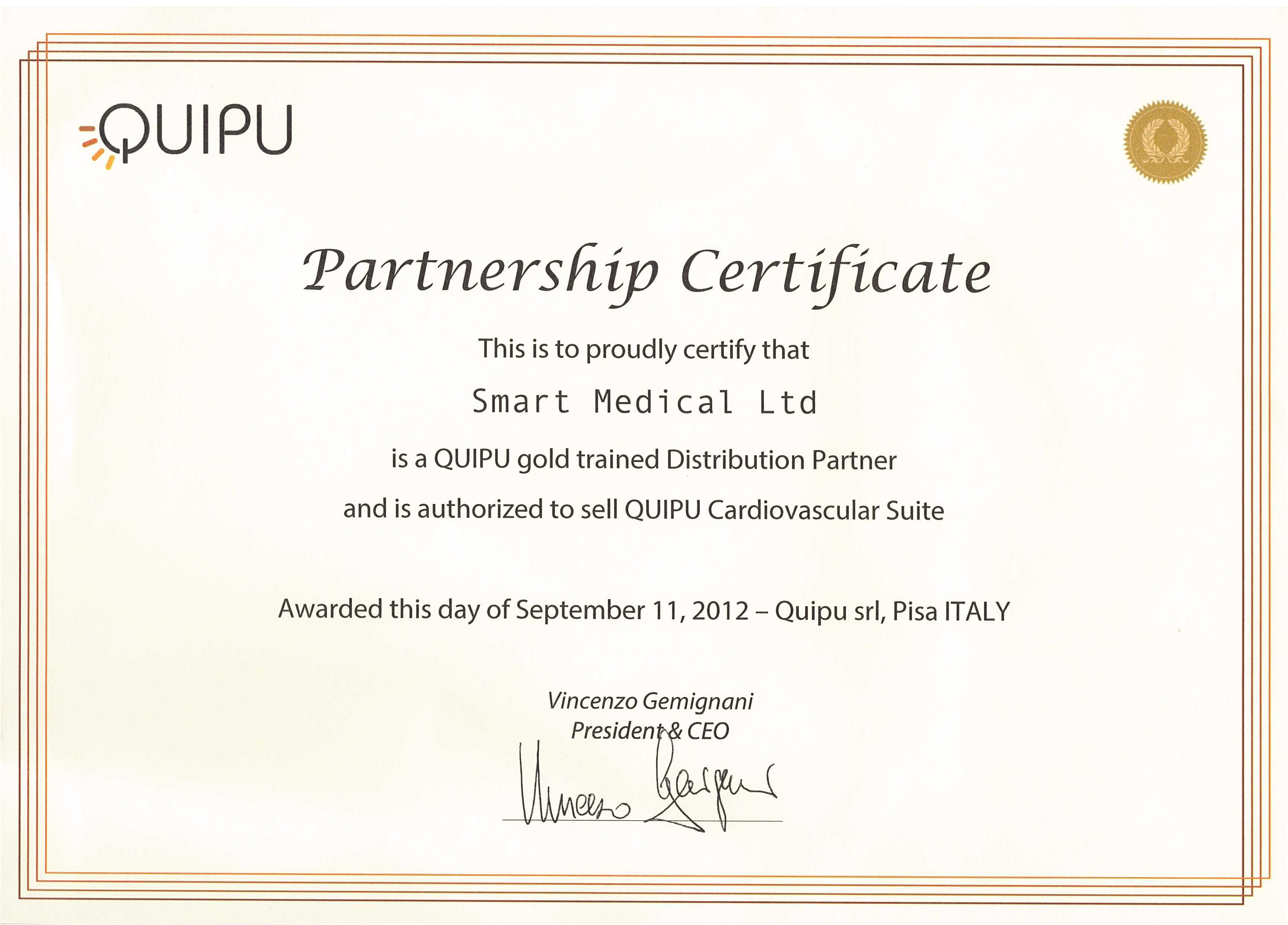 certificate of partnership template