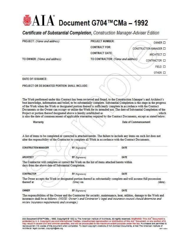 Certificate Of Substantial Completion Template General Contractor Contract Template Shatterlion Info