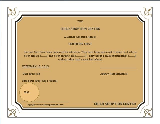 Child Adoption Certificate Template when A Child is Adopted An Amended Birth Certificate Abc