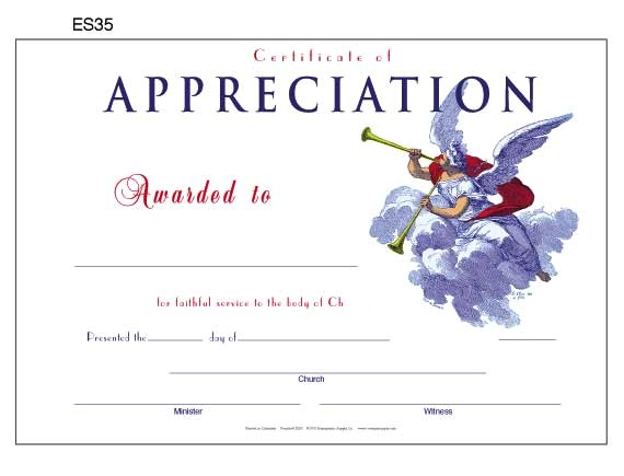 post church certificate of appreciation 480314