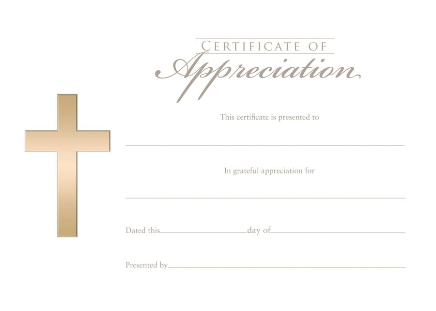 Christian Certificate Of Appreciation Template 10 Best Images Of Religious Certificate Of Appreciation