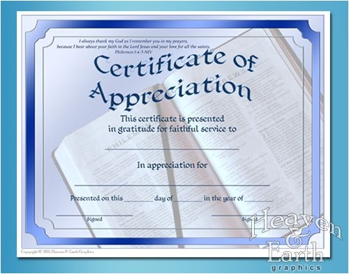 Christian Certificate Of Appreciation Template Appreciation Certificates Certificate theme Appreciation