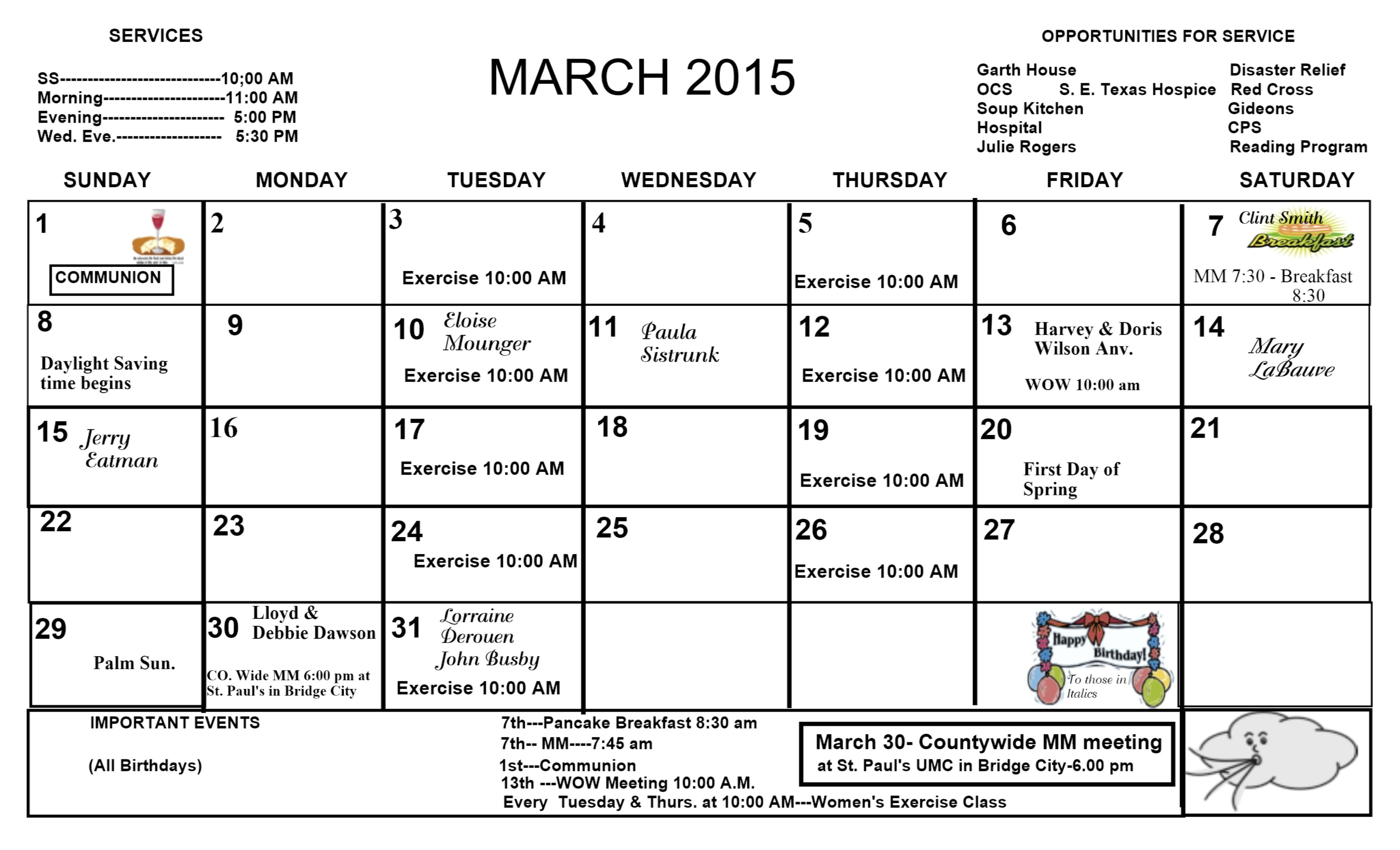 elca church year calendar 2016