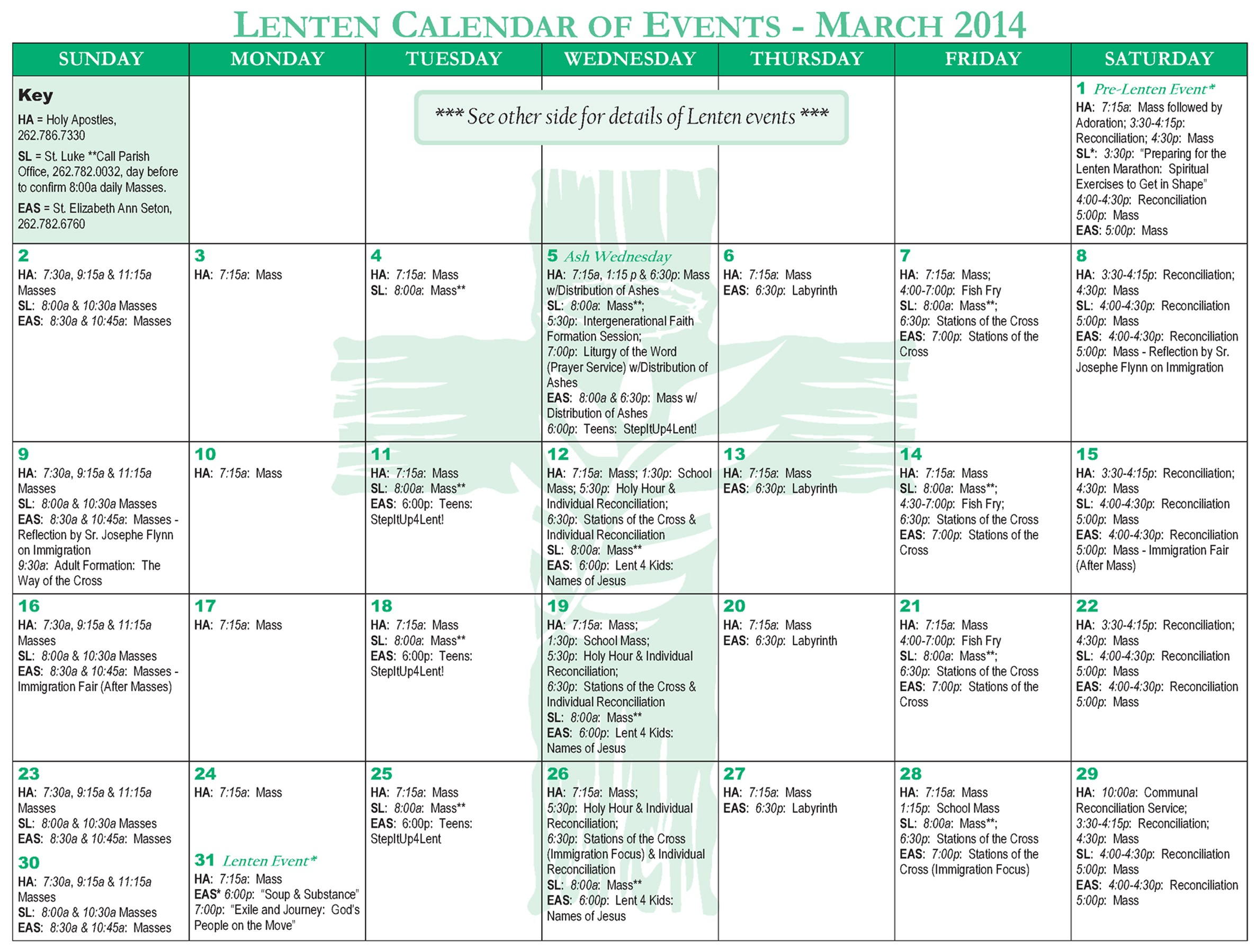 Church event Calendar Template Design Bright Ideas Blog