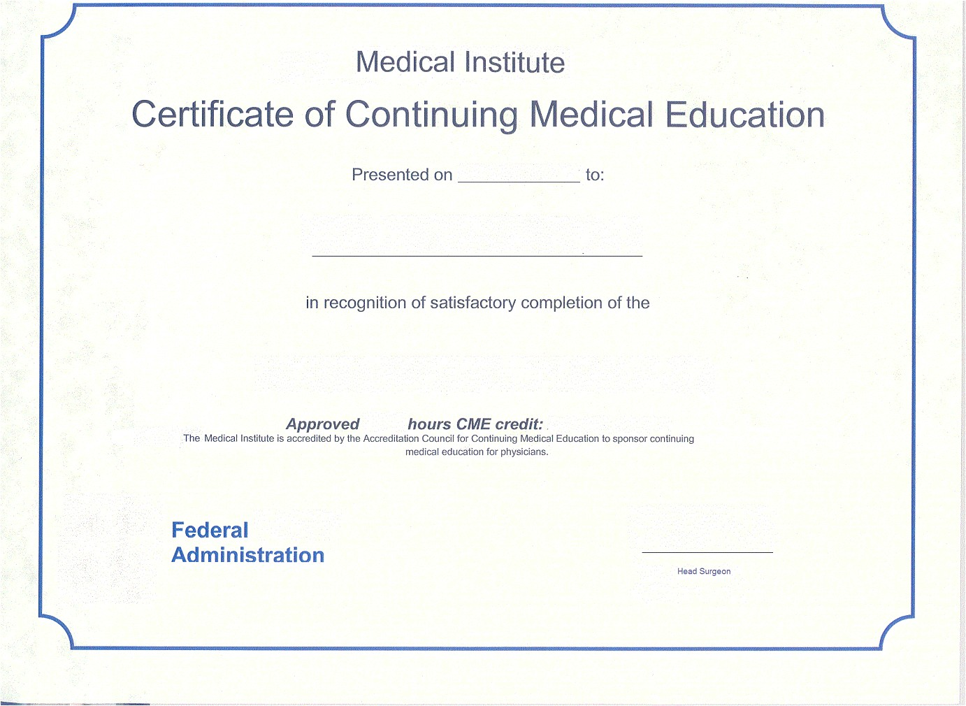 Cme Certificate Template Medical assistant Certificate Certificate Templates