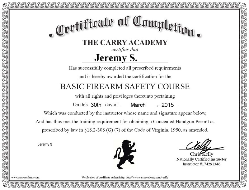 carry academy online ccw course