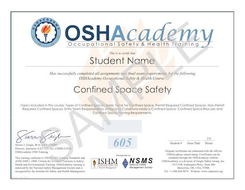 Confined Space Certificate Template Best Photos Of Osha Certificate Template Osha Training