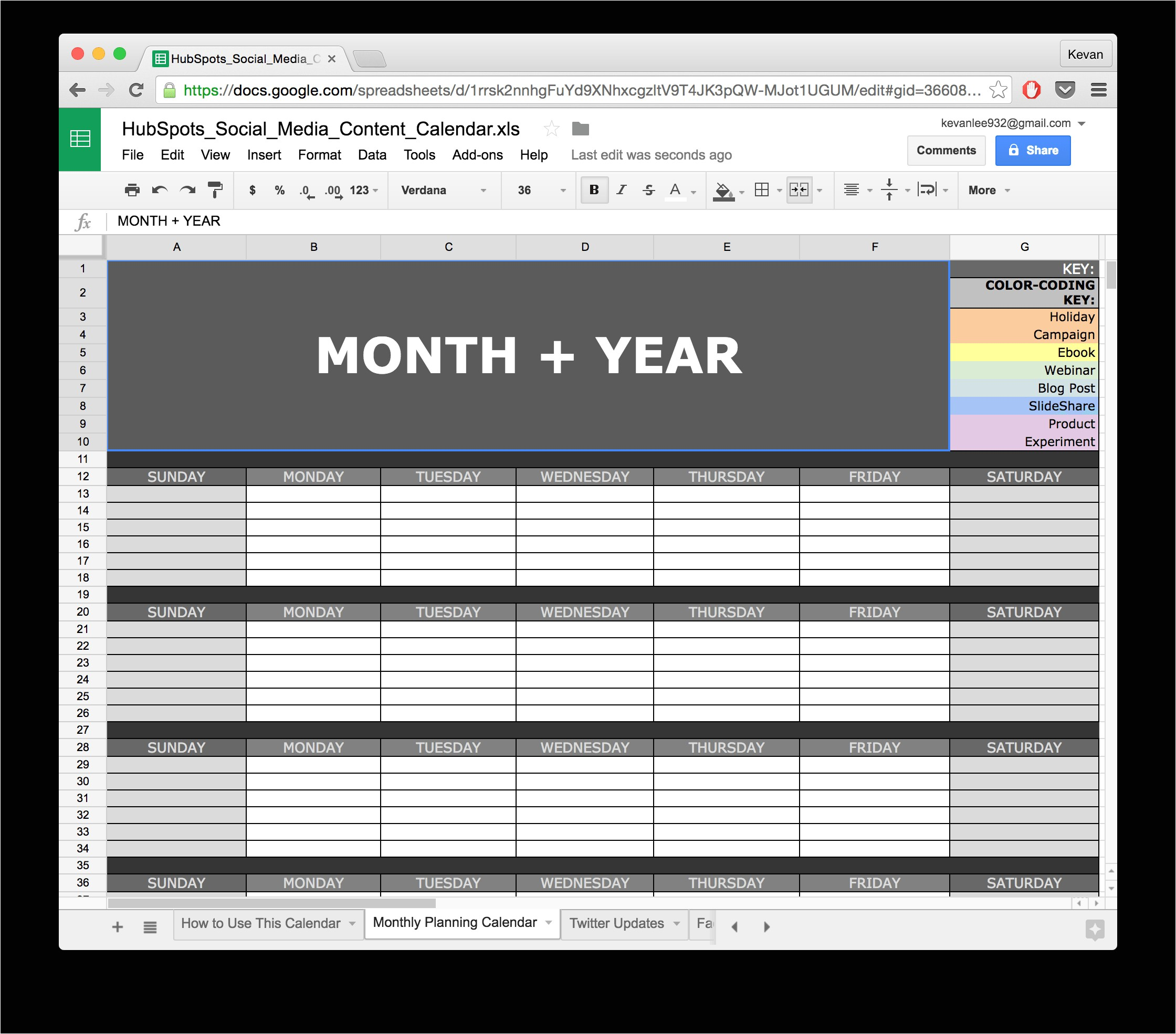 social media calendar template google docs 1367