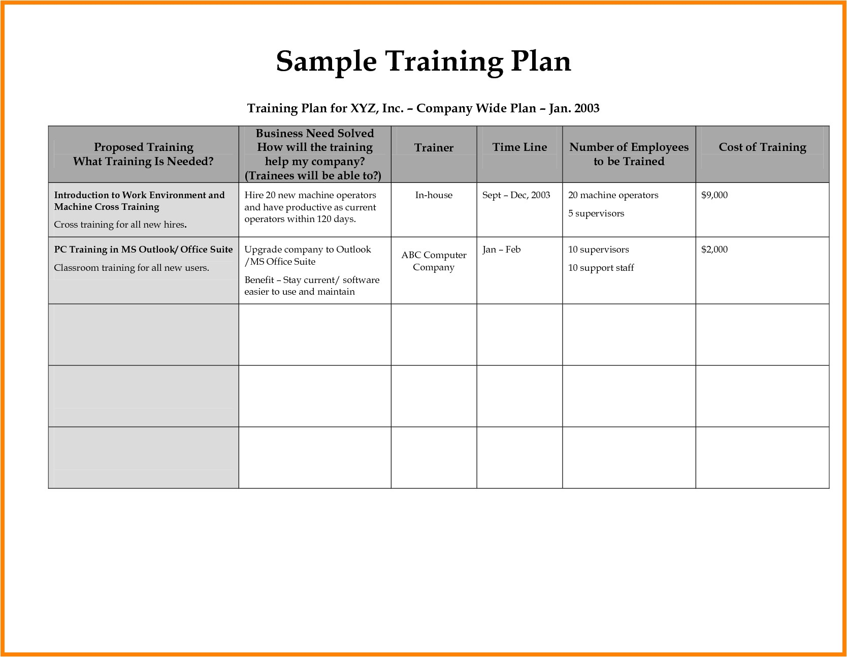 Corporate Training Calendar Template 8 Employee Training Plan Template Introduction Letter
