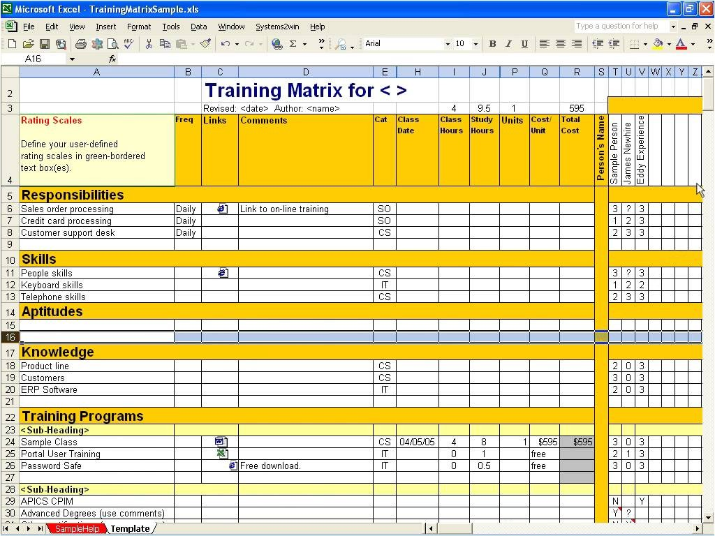 employee training schedule template excel 1111