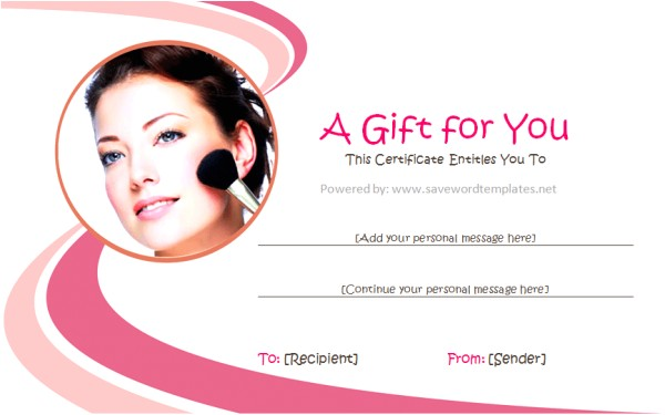 Cosmetology Certificate Template Gift Certificate Templates soft Templates