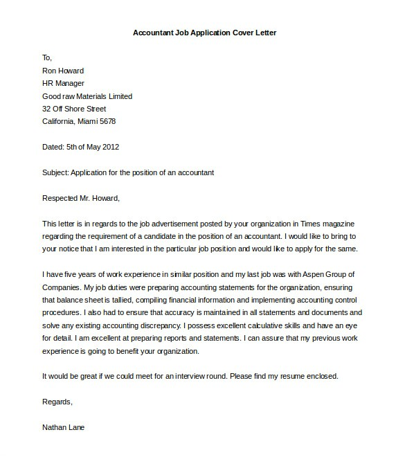 Cover Letter Template for Job Application 54 Free Cover Letter Templates Pdf Doc Free