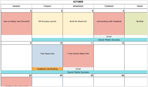how to create social media calendar template marketers