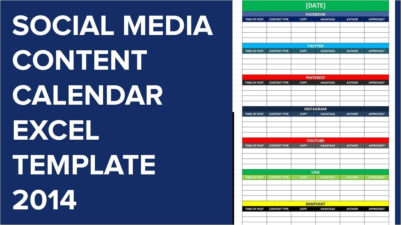 social media editorial calendar excel template