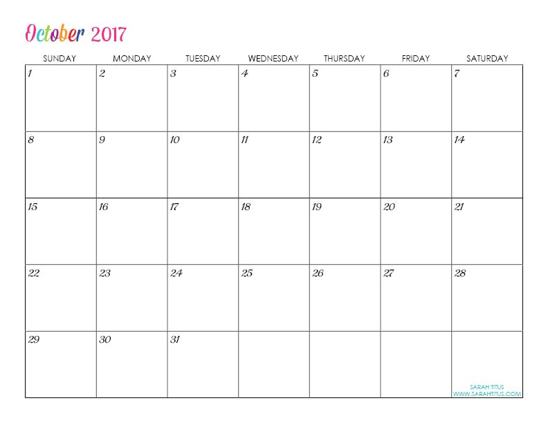 Customizable Calendar Template 2017 Custom Editable Free Printable 2017 Calendars Sarah Titus