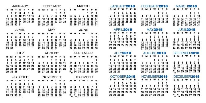 custom calendar templates