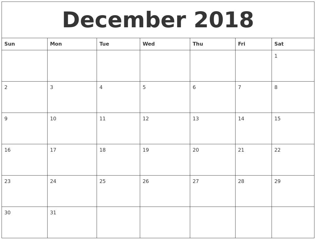november 2018 free calendar printables