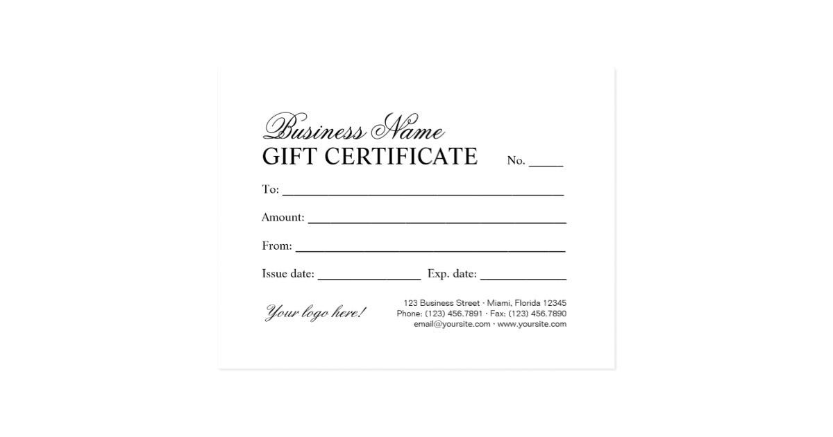 Customizable Christmas Gift Certificate Template Personalized Christmas Gift Certificate Template Postcard