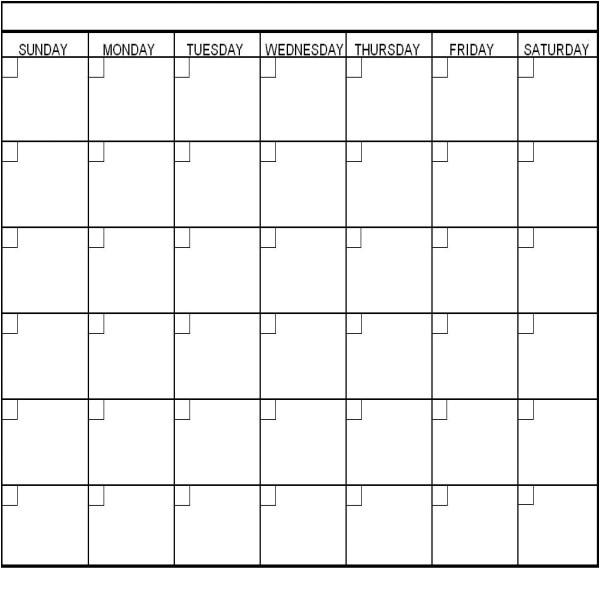 calendar template 2780