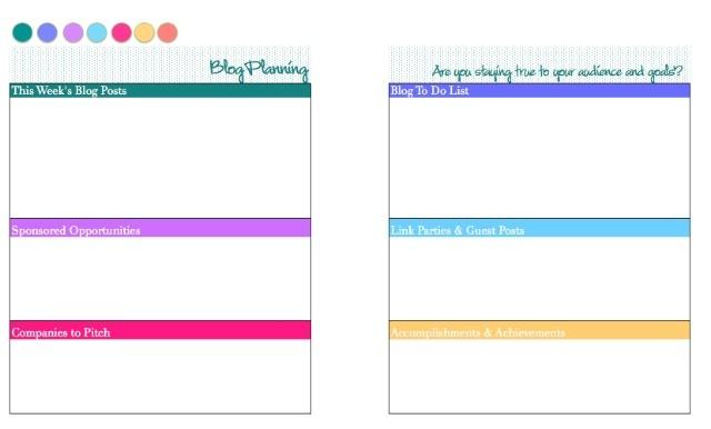2015 free printable blog planner calendar