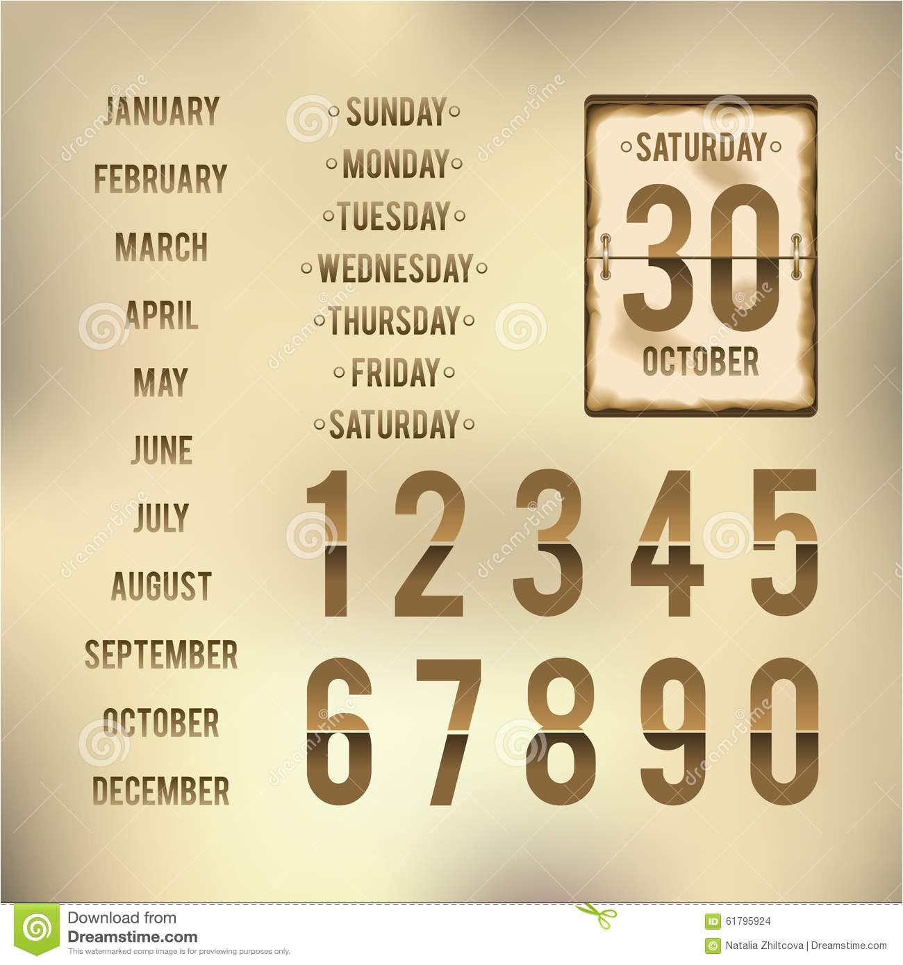 stock illustration template flip calendar burnt edges design image61795924
