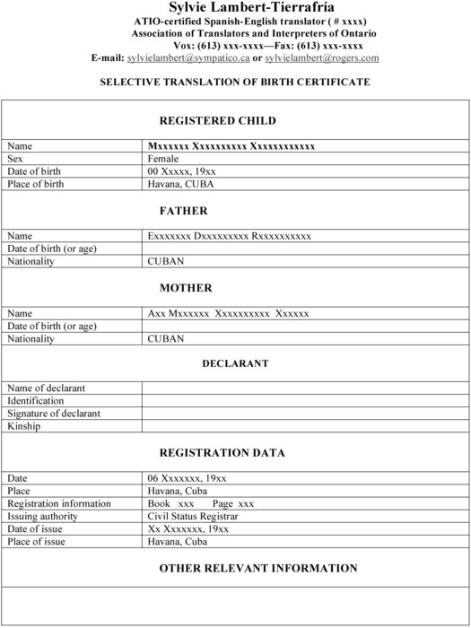 death certificate translation template spanish to english 016067arf009n