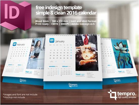 indesign 2016 desktop calendar template