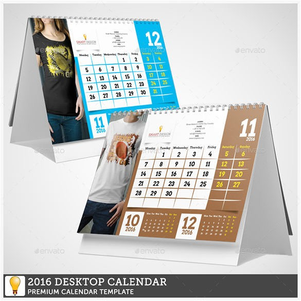 Desktop Calendar Design Templates Indesign 2016 Desktop Calendar Template Calendar