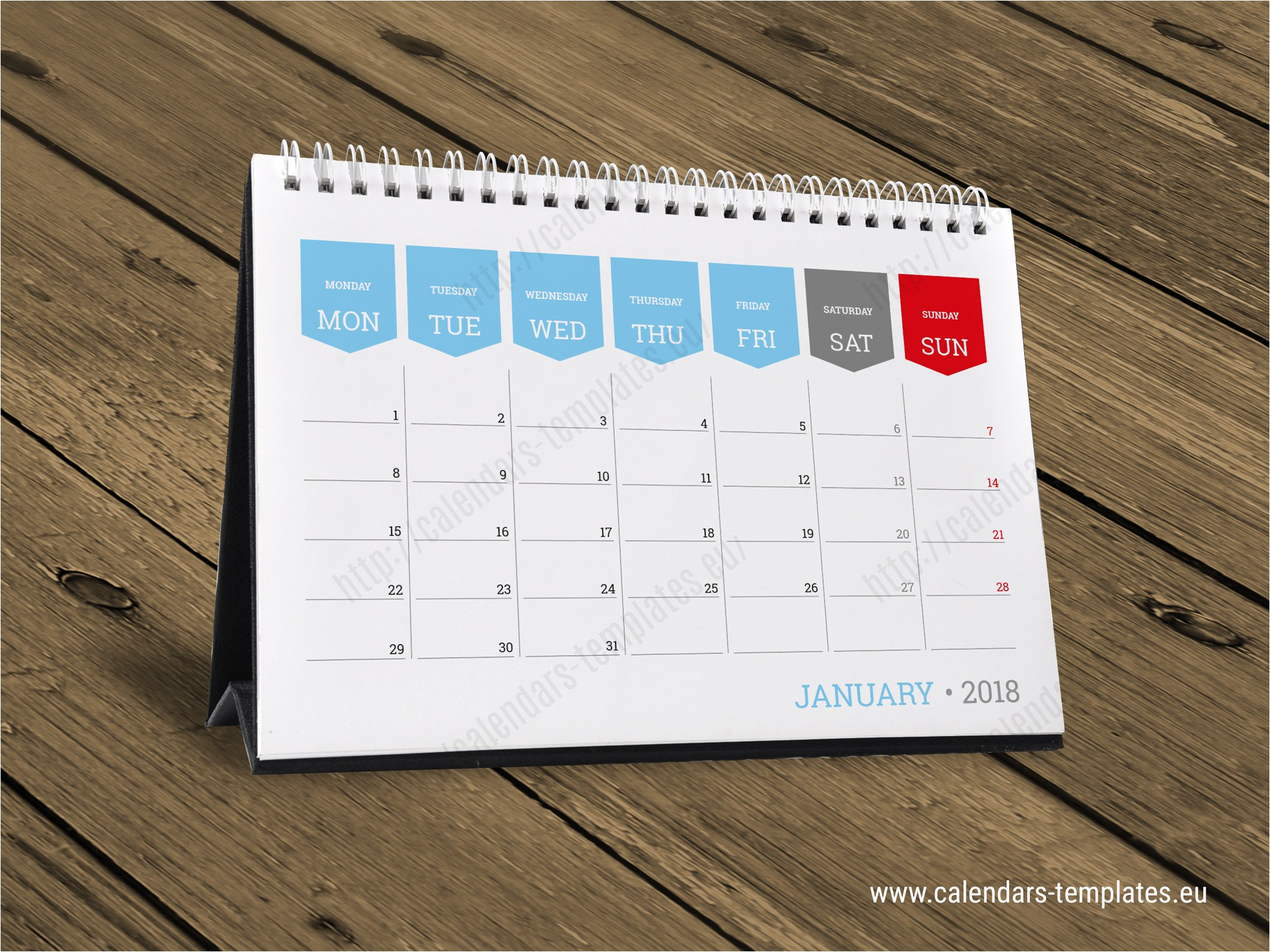 monthly desktop calendar 2018 kb10 w3