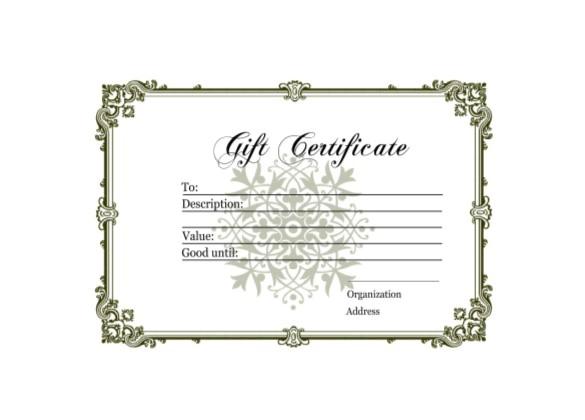 sample homemade gift certificate