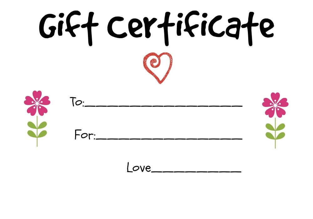 Diy Gift Certificate Template Homemade Gift Certificate Ideas to Give to A Grandparent