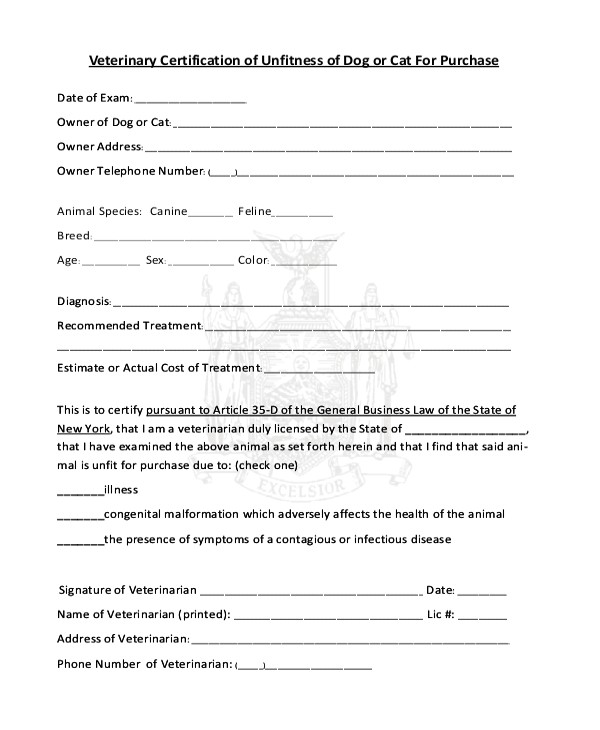 Dog Vaccination Certificate Template Certificate Of Vaccination Template for Dogs