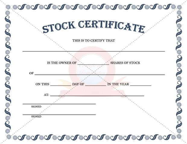 Electronic Stock Certificate Template 1000 Images About Stock Certificate Template On Pinterest