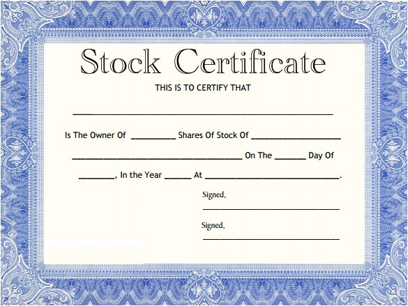 share stock certificate template