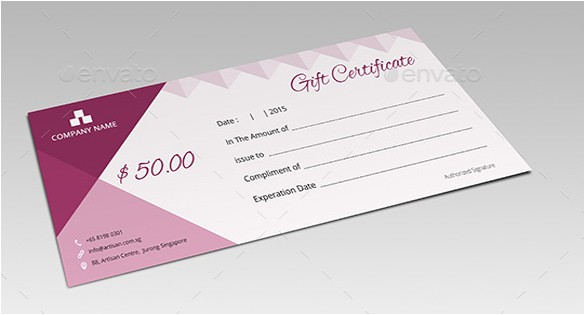Email Gift Certificate Template 8 Email Gift Certificate Templates Free Sample Example